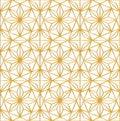 Luxury seamless vector pattern with geometric golden stars