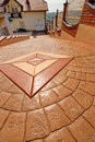 Stamped concrete Royalty Free Stock Photo