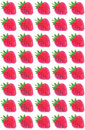 Stamped or sponged strawberries pattern repeating strawberry design with texture Royalty Free Stock Image