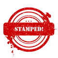 Stamped Stamp Royalty Free Stock Photo