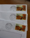 Stamps of Czech Republic Royalty Free Stock Photo