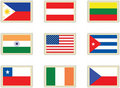Stamps flags 4 Royalty Free Stock Photo