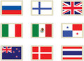 Stamps flags 5 Royalty Free Stock Photography