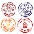 Stamps Food and drink Royalty Free Stock Photography