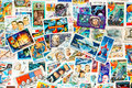 Stamps printed shows cosmos cosmic space different countries circa ss in different countries set theme circa ss Royalty Free Stock Images