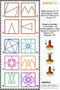 Stamps and prints IQ training picture puzzle