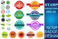 Stamps set vector collection Royalty Free Stock Photo