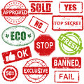 Stamps set of vector and labels Royalty Free Stock Images