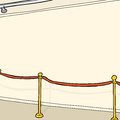 Stanchion in room track lighting and at blank wall Stock Photography