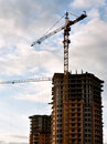 Stand, house, construction crane Royalty Free Stock Photo