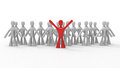 Stand out from the crowd business people d concept design Stock Image