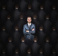 Stand out from the crowd concept Royalty Free Stock Photography