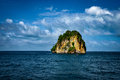 Isolated and Stand Still Rocky Mountain PHI PHI Island Phuket Royalty Free Stock Photo