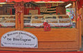 Stand with sweeties at the christmas fair in bergamo italy december bergamo italy Royalty Free Stock Photos