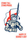 Stand Tall Proud English Happy St George Greeting Card Royalty Free Stock Image
