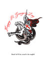 Stand Tall Proud English Happy St George Stand Retro Poster Royalty Free Stock Photo
