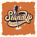 Stand Up Comedy Show Label Poster Sign Retro American Seventies