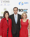 Stand up for heroes new york ny november caroline hirsch bob woodruff and lee woodruff l r attend the th annual event at madison Royalty Free Stock Photo