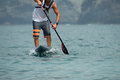 Stand up paddle board man paddleboarding Royalty Free Stock Photo