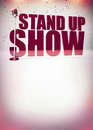 Stand up show background abstract invitation poster with space Royalty Free Stock Photos
