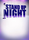 Stand up show background abstract invitation poster with space Royalty Free Stock Photography