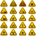 Standard hazard symbols Stock Photos