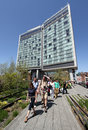 The standard high line nyc hotel in west village which is located along park in manhattan Stock Photography