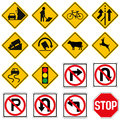 Standard Traffic sign collection Royalty Free Stock Photo
