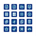 Standart computer commands icons set Stock Photography
