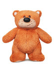Standing brown teddy bear plush toy Royalty Free Stock Photo