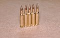 The standing cartriges 308 Winchester caliber with full metal jacket bullets steel case Royalty Free Stock Photo