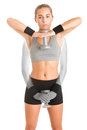 Standing Dumbbell Upright Row Royalty Free Stock Photo