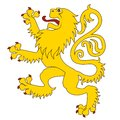 Standing heraldic lion this is file of eps format Royalty Free Stock Photo