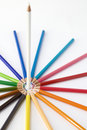 Standing out white pencil Royalty Free Stock Photo