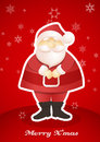 Standing santa postcard vector art Royalty Free Stock Image