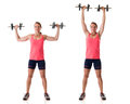 Standing Shoulder Press Royalty Free Stock Photo