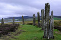 Standing stones on orkneys ring of brodgar stock photo Royalty Free Stock Photo