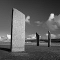Standing stones of stenness orkney scotland a neolithic stone circle which is part of the heart of neolithic orkney world heritage Royalty Free Stock Photos