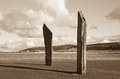 Standing stones world heritage site of stenness orkney scotland a neolithic stone circle which is part of the heart of neolithic Stock Photo