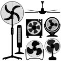 Standing Table Ceiling Fan Design Royalty Free Stock Image