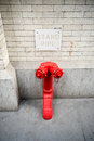 Standpipe connection for fire department in new york ready to provide water Royalty Free Stock Image