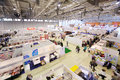Stands of companies on moscow international book exhibition september and fair in vvc september in russia Stock Photography