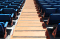 Stands of a stadium with seats and stairs perspective view the modern football landscape cut Royalty Free Stock Photos