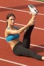 Stanik powietrza nogi sport waha kobiet szlakowych young Zdjęcia Royalty Free