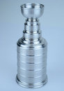 Stanley cup picture of replica of the in aluminium Royalty Free Stock Photo