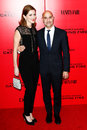 Stanley tucci felicity blunt new york nov actor r and wife attend the hunger games catching fire special screening at amc lincoln Stock Photography