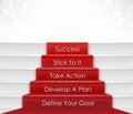 Stap aan succes