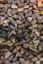 Stapel av trä Royaltyfria Bilder