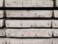 Stapel van concrete de bouwplak Stock Foto's