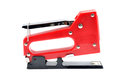 Staple gun on white background Stock Photography